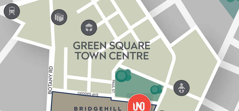 green square town centre uno